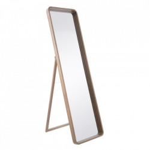 Oglinda dreptunghiulara maro din lemn de paulownia pentru podea 70x162,5 cm Matilda Ixia