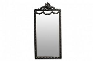 Oglinda dreptunghiulara neagra cu rama din lemn 120x242 cm Baroque Versmissen