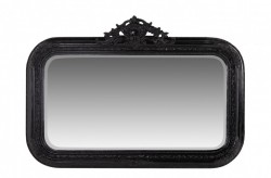 Oglinda dreptunghiulara neagra cu rama din lemn 145x99 cm Baroque Versmissen