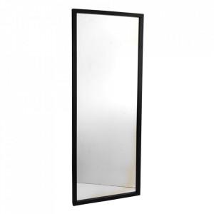 Oglinda dreptunghiulara neagra din lemn de stejar 60x150 cm Confetti Rowico Home