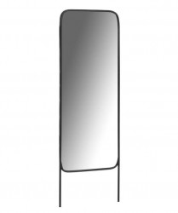 Oglinda dreptunghiulara neagra din metal si sticla 62x179 cm Sabirah La Forma