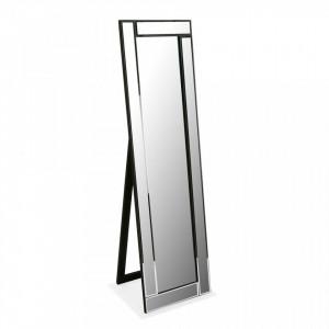 Oglinda dreptunghiulara neagra din sticla 40x140 cm Cheval Versa Home