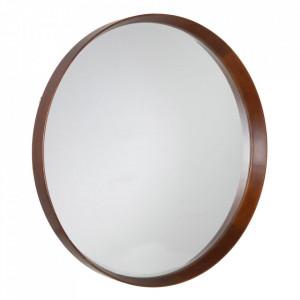 Oglinda maro din lemn de fag si sticla 100 cm Evika Ixia