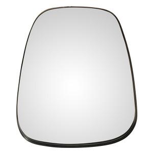 Oglinda ovala argintie din fier si MDF 66x76 cm Marla Zago