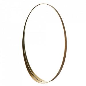 Oglinda ovala aurie din metal 46x77 cm Oval Pols Potten