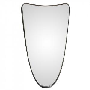 Oglinda ovala neagra din metal 31x61 cm Darwin Zago