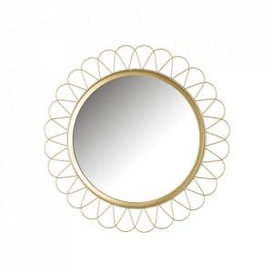 Oglinda rotunda aurie din fier 40 cm Rachel Unimasa
