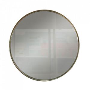 Oglinda rotunda aurie din sticla si metal 40 cm Anne Steinhauer
