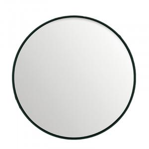 Oglinda rotunda neagra din MDF si sticla 60 cm Black Lifestyle Home Collection
