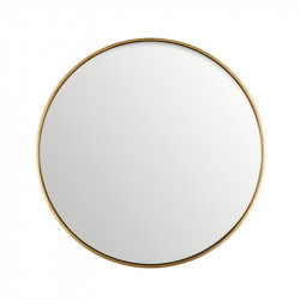 Oglinda rotunda neagra din MDF si sticla 80 cm Antique Gold Lifestyle Home Collection