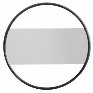 Oglinda rotunda neagra din metal 55 cm Gasper Nordal