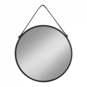 Oglinda rotunda neagra din otel 60 cm Trapani House Nordic