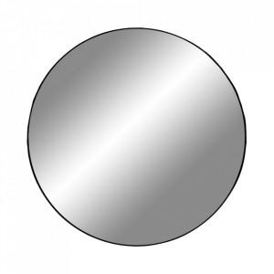 Oglinda rotunda neagra din otel 80 cm Jersey House Nordic