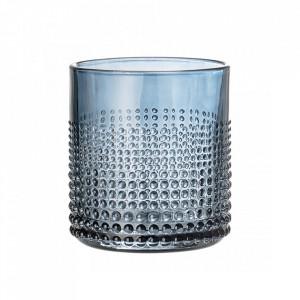 Pahar albastru pentru apa din sticla 8x8,5 cm Bloomingville