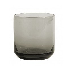 Pahar gri fum din sticla 8x8 cm Retro Nordal