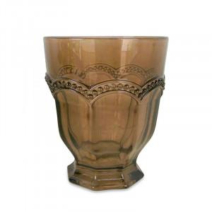 Pahar maro chihlimbar din sticla 8,5x10 cm Theo Opjet Paris