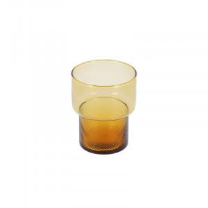 Pahar portocaliu din sticla Naussica La Forma