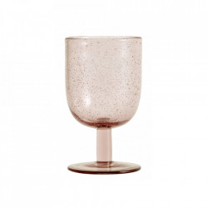 Pahar roz din sticla pentru vin 280 ml Maroc Nordal