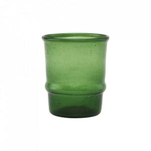 Pahar verde inchis din sticla 6,5x7,5 cm Jeema House Doctor