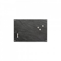 Panou memo gri din sticla 40x60 cm Slate Rectangle Zeller