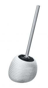 Perie argintie din ceramica pentru toaleta Polaris Brush Juwel Wenko