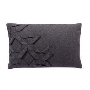 Perna decorativa din lana gri inchis 30x50cm Hubsch