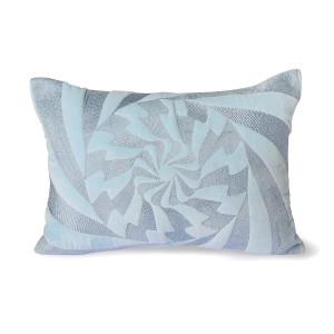 Perna decorativa dreptunghiulara albastru gheata din bumbac 35x50 cm Jay HK Living