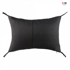 Perna decorativa dreptunghiulara gri/neagra din bumbac 35x50 cm Grey Black Zago