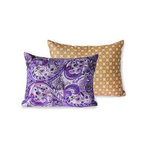 Perna decorativa dreptunghiulara multicolora din PET 30x40 cm Doris Purple HK Living