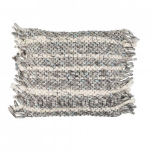 Perna decorativa gri din bumbac si lana 45x45 cm Frills Grey Zuiver