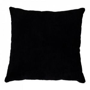 Perna decorativa neagra din textil 45x45 cm Blanca House Nordic