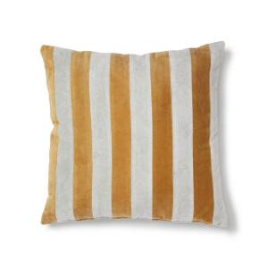 Perna decorativa patrata gri/mustar din catifea si bumbac 50x50 cm Kravitz HK Living