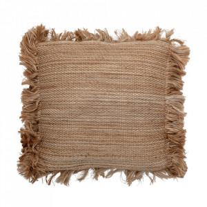 Perna decorativa patrata maro din iuta si bumbac 50x50 cm Christel Bloomingville