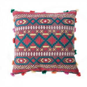Perna decorativa patrata multicolor din bumbac 45x45 cm Yata Zago
