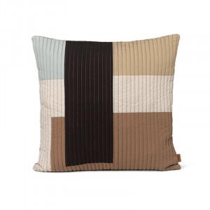 Perna decorativa patrata multicolora din bumbac 50x50 cm Shay Quilt Ferm Living