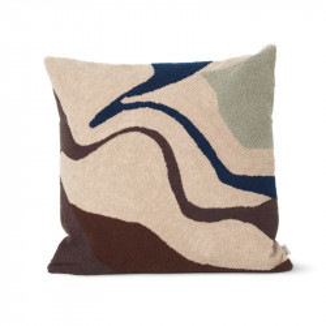 Perna decorativa patrata multicolora din bumbac si fibre 50x50 cm Vista Ferm Living
