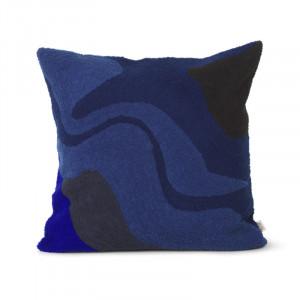 Perna decorativa patrata multicolora din bumbac si fibre 50x50 cm Vista Ben Ferm Living