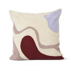 Perna decorativa patrata multicolora din bumbac si fibre 50x50 cm Vista Avi Ferm Living