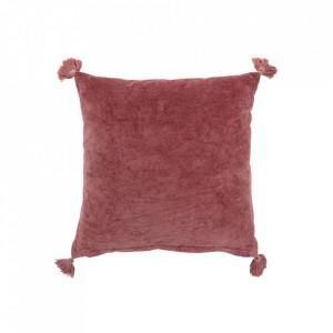 Perna decorativa patrata roz din bumbac 45x45 cm Ave Bloomingville