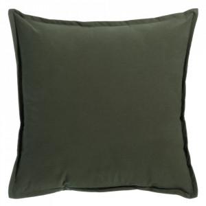 Perna decorativa patrata verde inchis din bumbac 45x45 cm Agnes Ixia