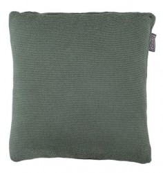 Perna decorativa patrata verde inchis din bumbac 50x50 cm Kaelen LifeStyle Home Collection