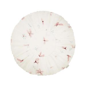 Perna decorativa rotunda multicolora din bumbac organic 40 cm Windflower Cam Cam