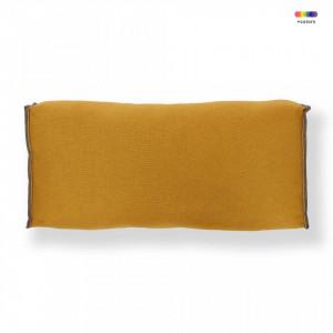 Perna galben mustar din textil pentru spatar 28x52 cm Re Sako La Forma