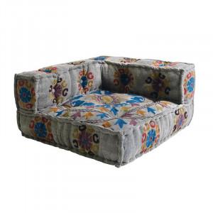 Perna modulara de podea patrata multicolora din bumbac 80x80 cm Renne Giner y Colomer