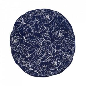 Perna rotunda albastra din bumbac pentru sezut 40 cm Spring Bloomingville