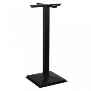 Picior negru din fier pentru masa bar Square Raw Materials