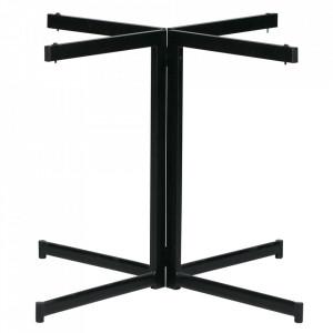 Picior pentru masa negru din metal Cross Woood