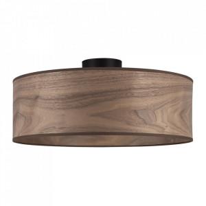 Plafoniera maro nuc din lemn si otel Tsuri Large Sotto Luce