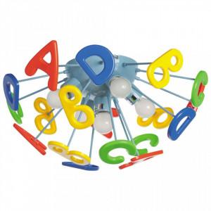 Plafoniera multicolora din metal si plastic cu 5 becuri pentru copii MW-Light Kinder MW Glasberg