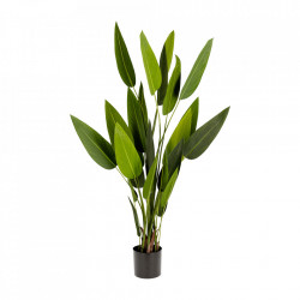 Planta artificiala cu ghiveci din polietilena si ciment 160 cm Strelitzia Kave Home